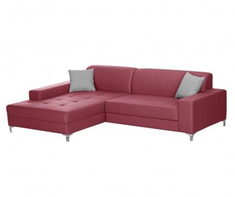 Разтегателен ляв ъглов диван Symbole Red