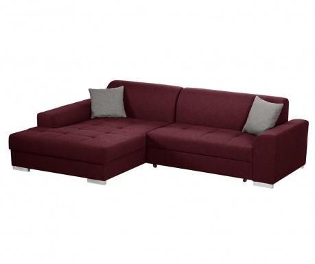 Разтегателен ляв ъглов диван Icone Red