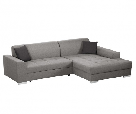 Разтегателен десен ъглов диван Icone Grey