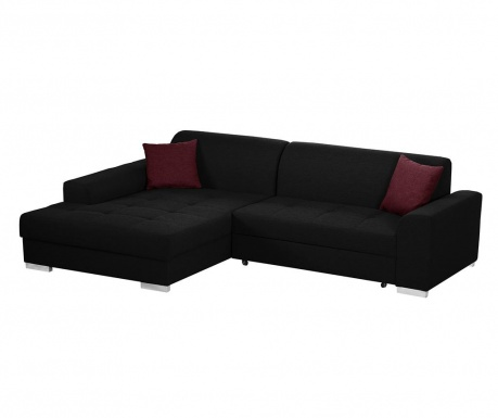 Разтегателен ляв ъглов диван Icone Black