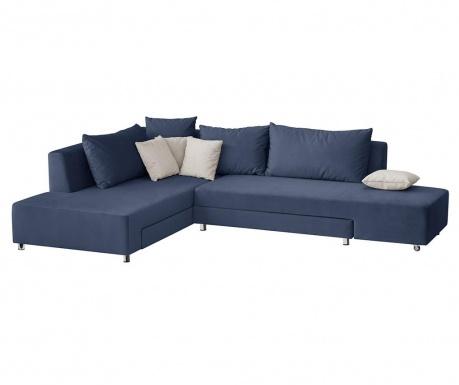 Модулен ляв ъглов диван Velours Blue