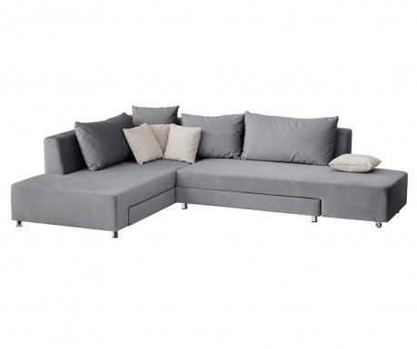 Модулен ляв ъглов диван Velours Grey