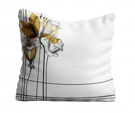 Perna decorativa Flower Sketch 40x40 cm