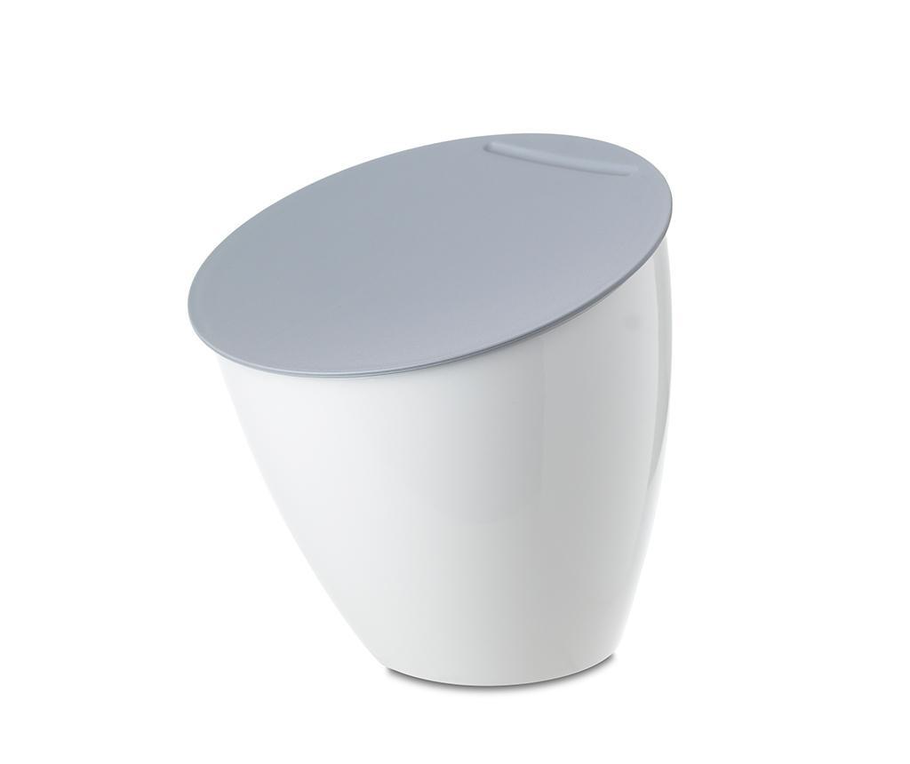 Cos de gunoi cu capac Calypso White 2.2 L