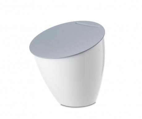 Κάδος απορριμάτων με καπάκι Calypso White 2.2 L