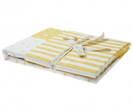 Posteljnina za otroško posteljico Ranforce Clouds Yellow