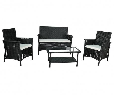 Set mobilier pentru exterior 4 piese Garden Dark Grey
