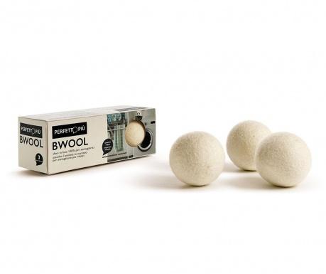 Komplet 3 sušilnih kroglic iz volne Bwool