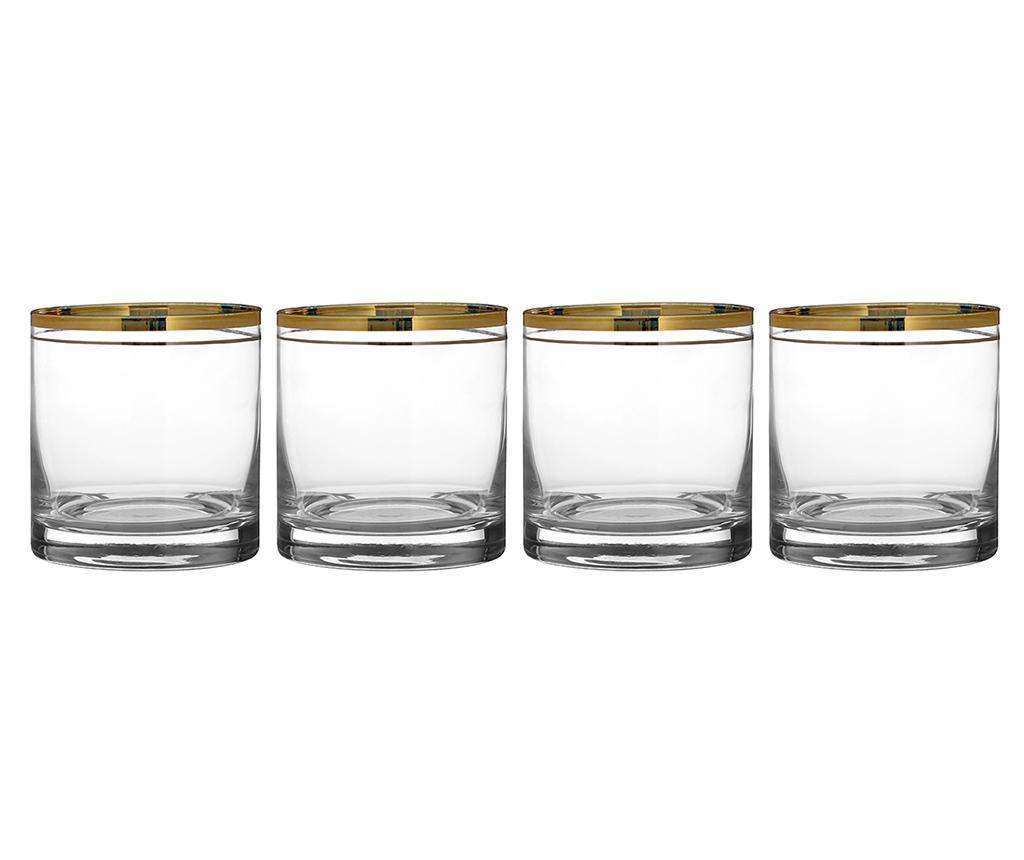 Set 4 pahare Little Charleston 375 ml - Premier, Alb