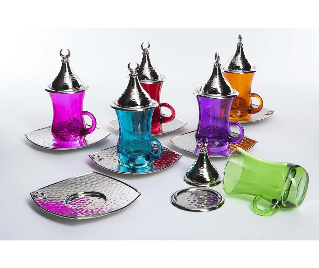 Set pentru ceai 18 piese Evrim Colors - Sena, Multicolor