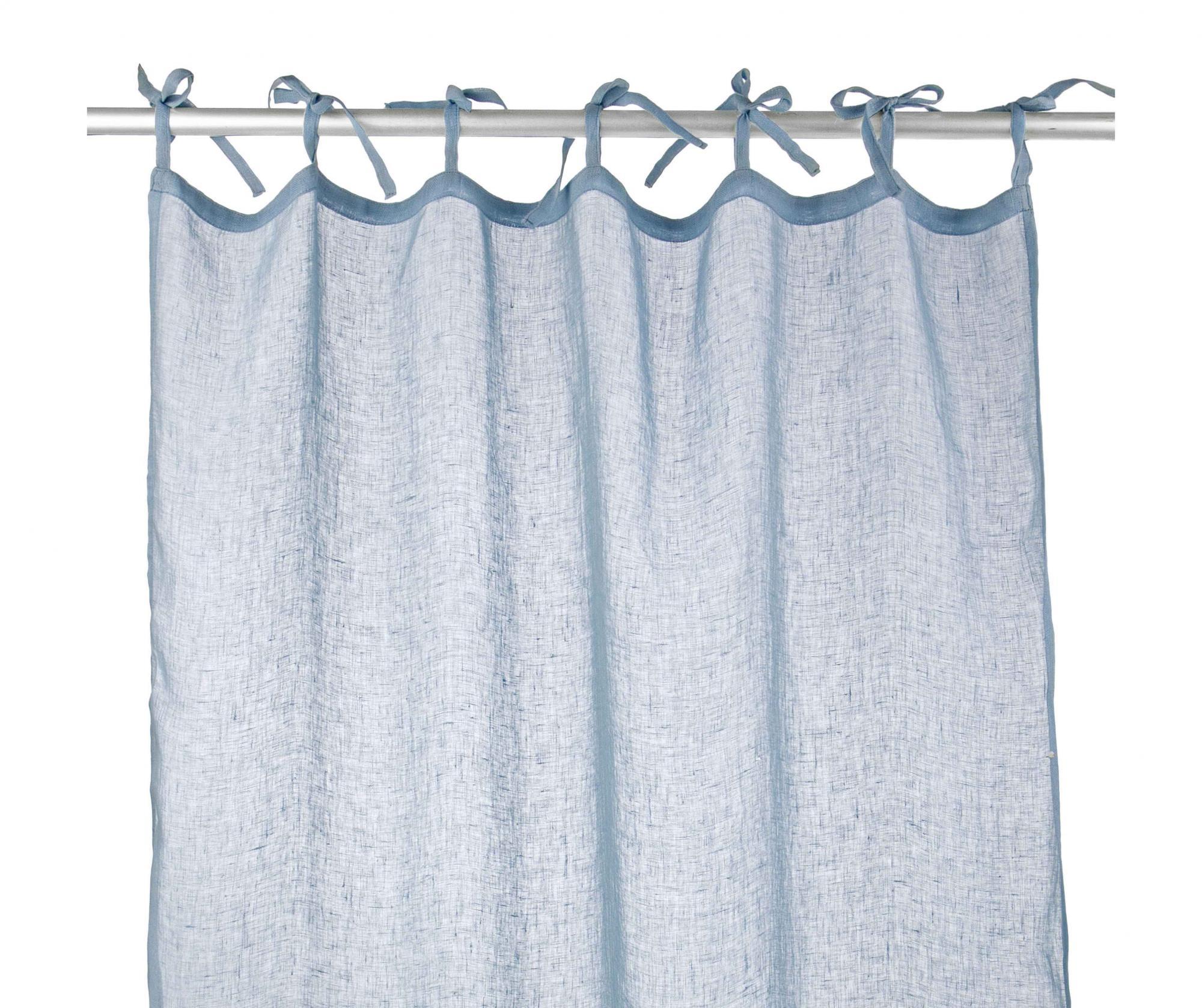 Perdea Carol Sky Blue 110x280 cm - Bizzotto, Albastru