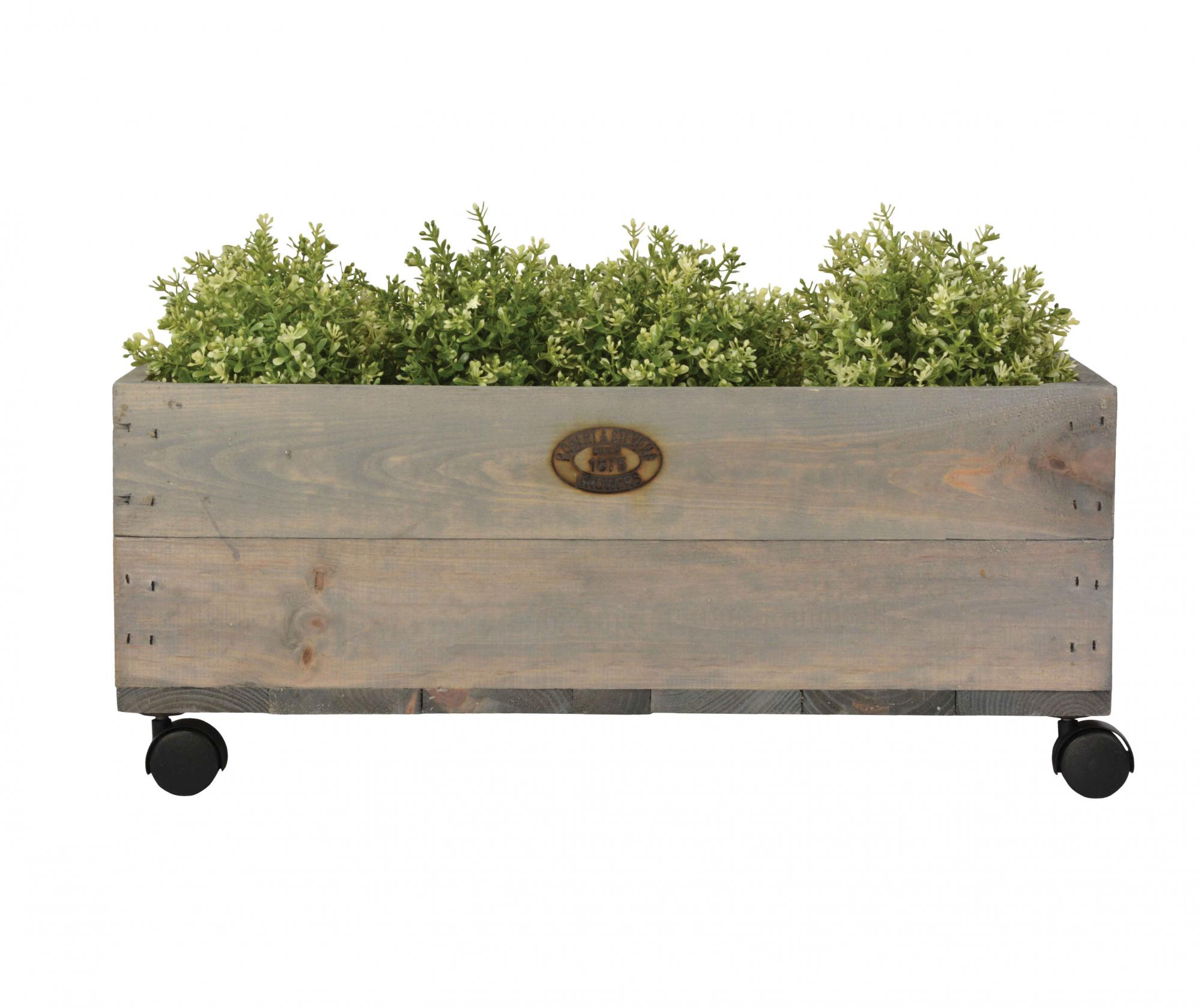 Jardiniera Planter Delight M - Esschert Design, Gri & Argintiu