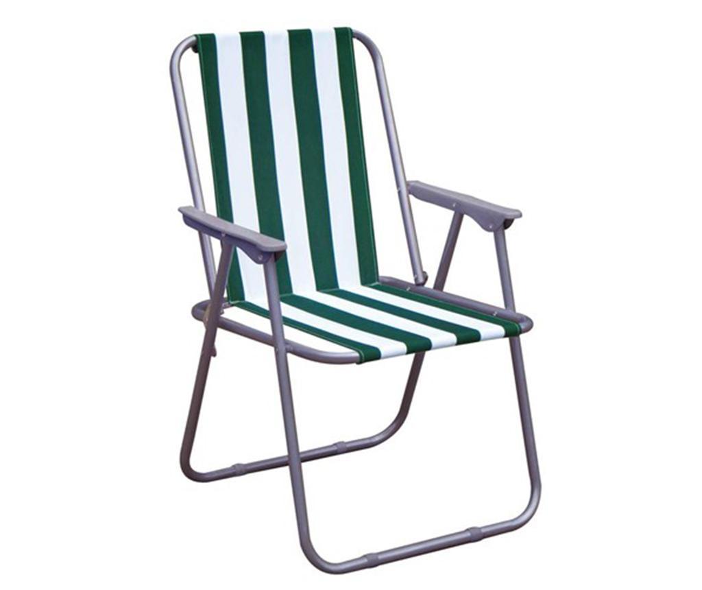 Scaun pliabil pentru exterior Bria Stripes - Happy Green, Multicolor