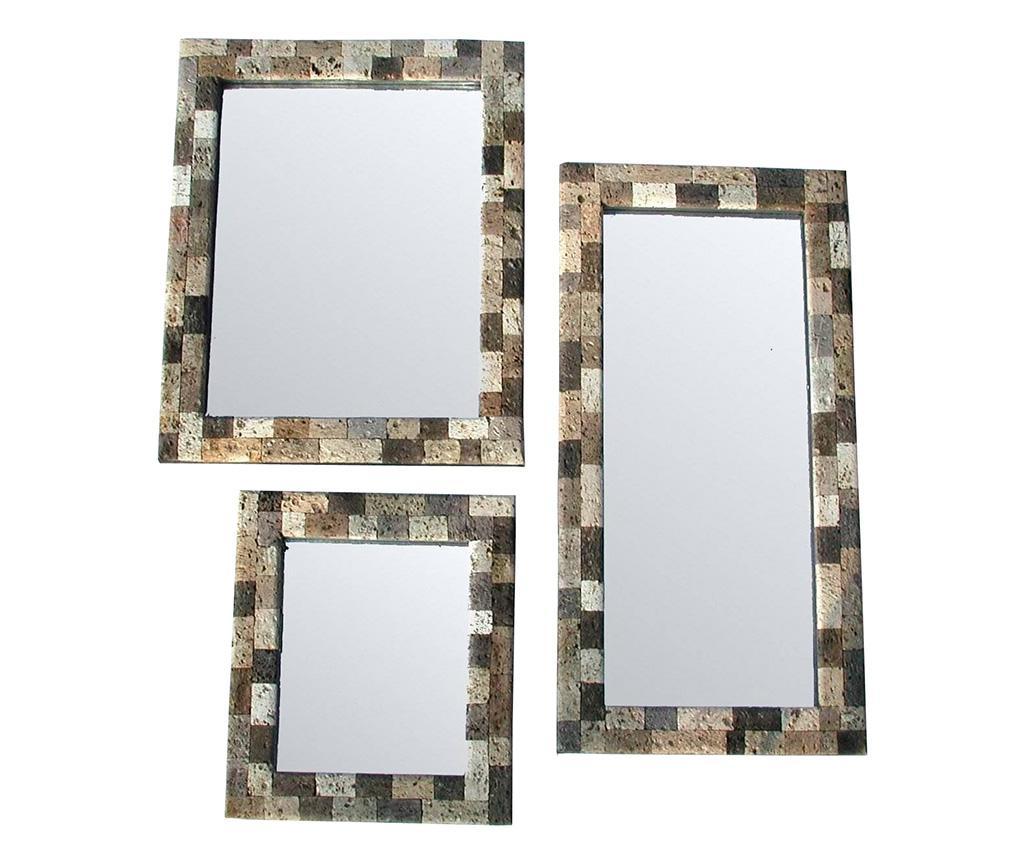 Set 3 oglinzi Liscio - Bolzonella, Gri & Argintiu