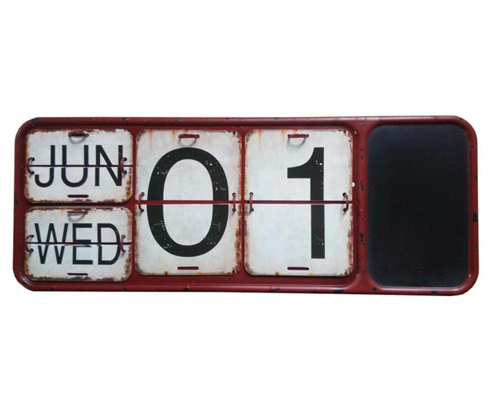 Calendar cu tabla de scris Long - Bolzonella, Rosu