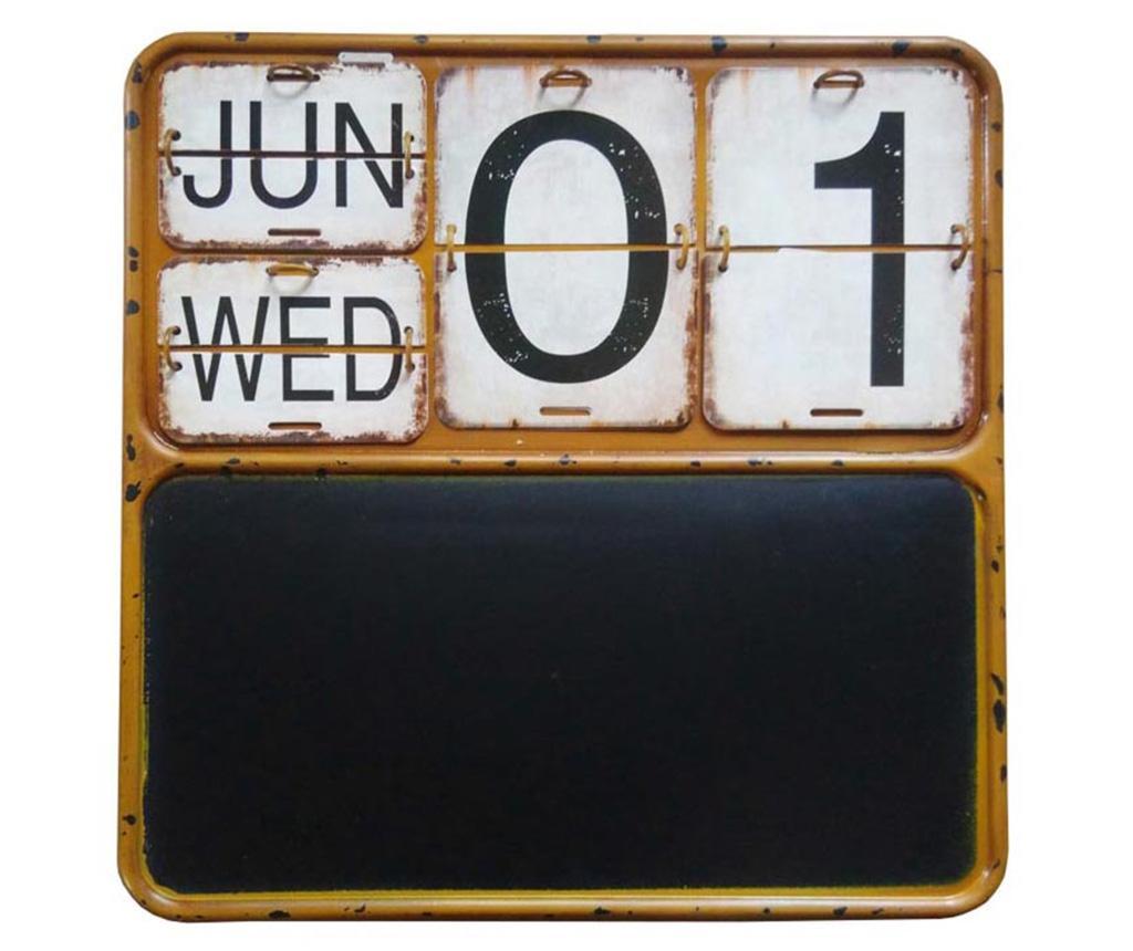Calendar cu tabla de scris Vanny - Bolzonella, Galben & Auriu