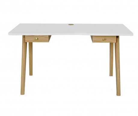 Radni stol Nice White and Oak