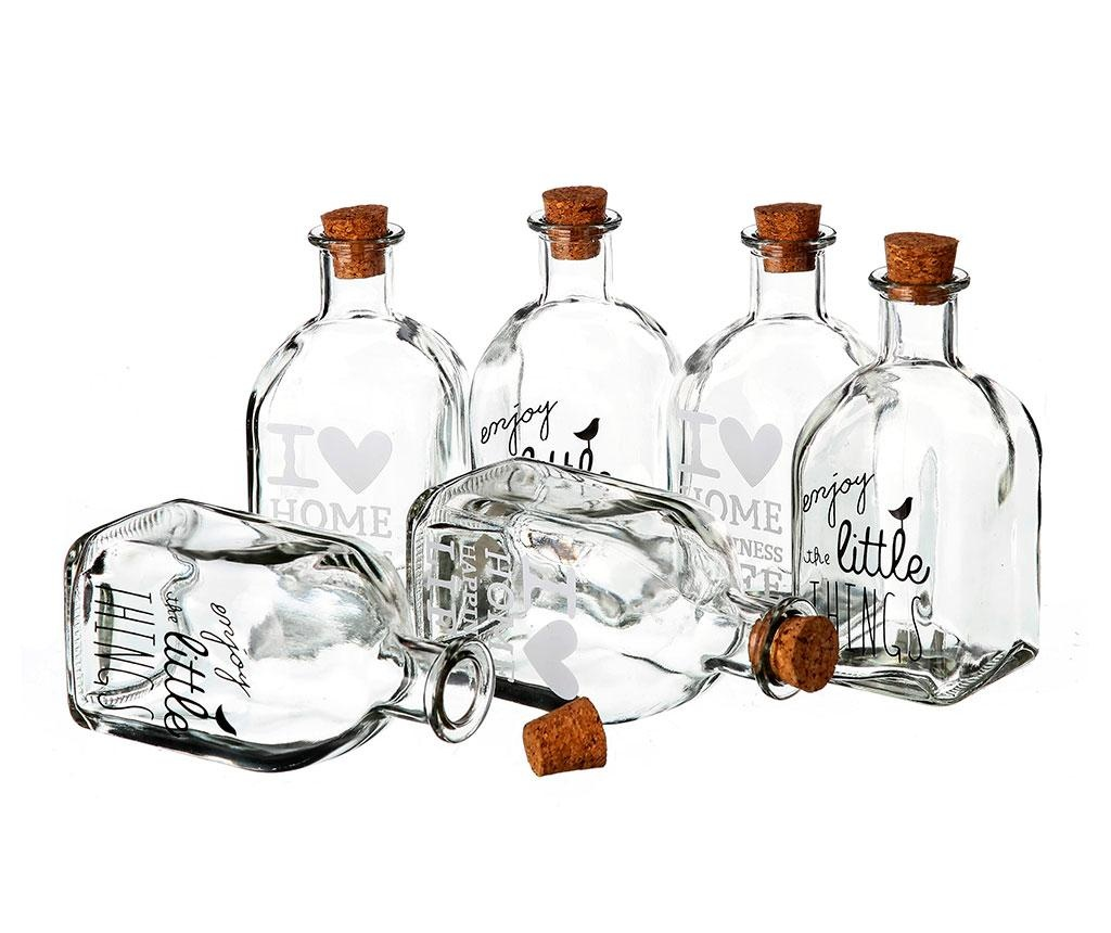 Set 6 steklenic za olje in kis Enjoy the Litlle Things 250 ml