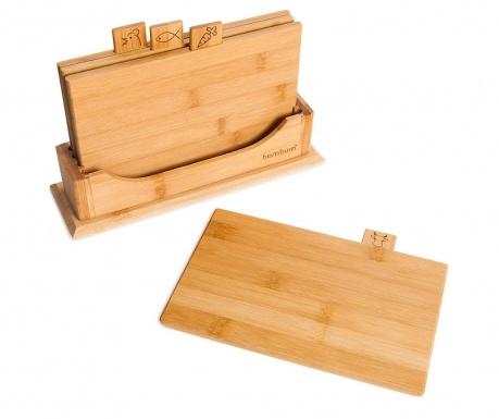 Комплект 4 дъски за рязане и поставка Tapenade Mini