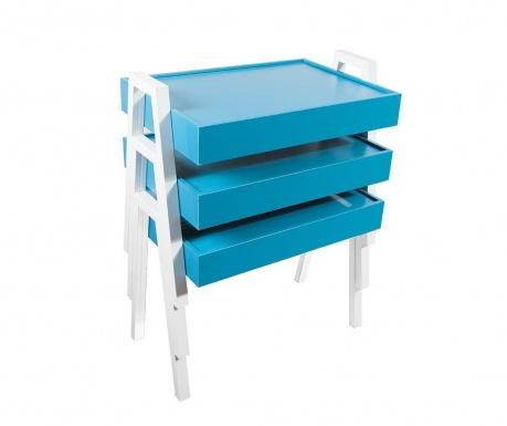 Nesting Blue and White 3 db Moduláris asztalka