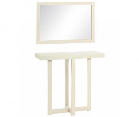 Комплект огледало и конзола Entry White