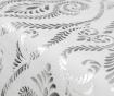 Traversa de masa Baroque White Silver 45x150 cm