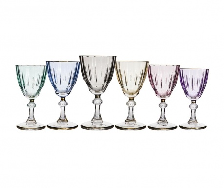 Diamondy Colors 6 db Talpas pohár 300 ml