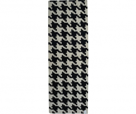 Kilim Resolution Black Szőnyeg 76x244 cm
