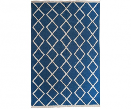 Килим Kilim Sakiya Blue Fringe 152x244 см