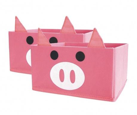 Set 2 cutii pentru depozitare Pig