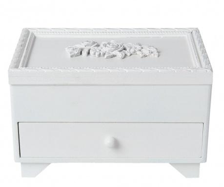Cutie pentru bijuterii Roses Old White