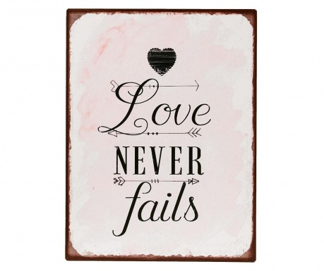 Decoratiune de perete Love Never Fails