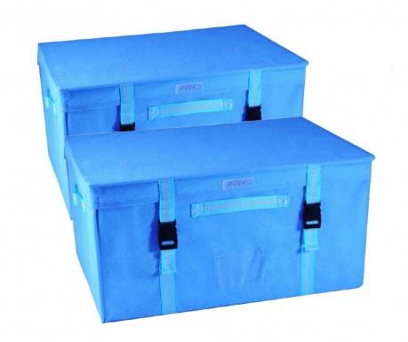 Set 2 cutii cu capac pentru depozitare Blue Mae