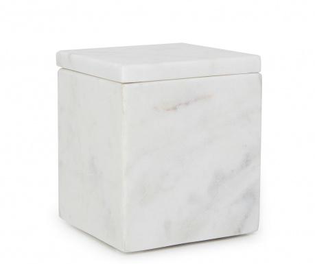 Škatla s pokrovom Cubic White