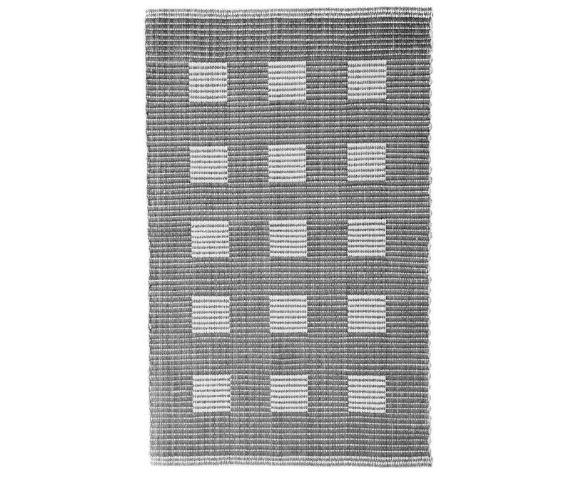 Covoras de baie Ribbed Squares Grey 60x100 cm