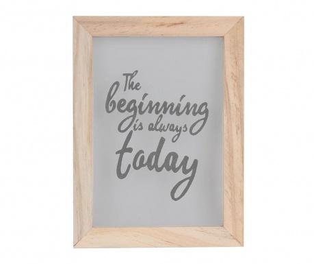 Obraz The Beginning 17x23 cm