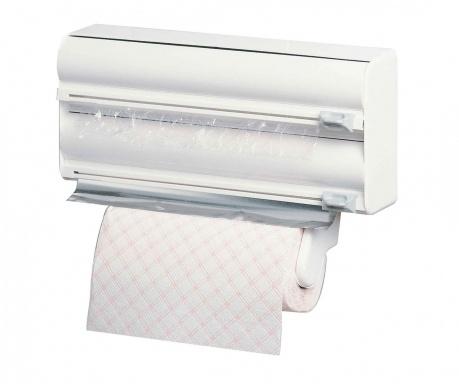 Držalo za rolo papirnatih brisač in plastično folijo Milo