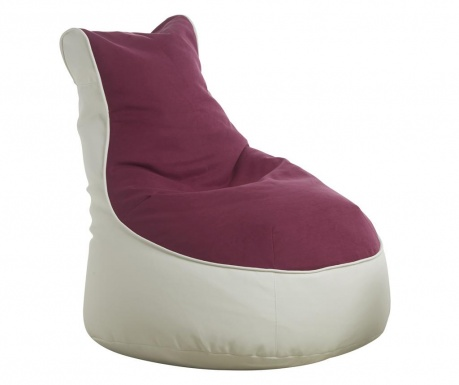 Sedací puf Comfort Genua Purple White