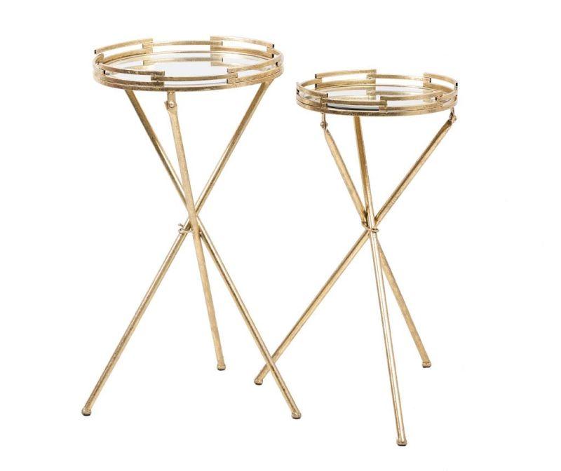 Sada 2 stoličky Gold