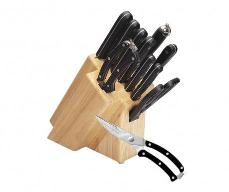 Set 10 ustensile de bucatarie si suport Sharp Line