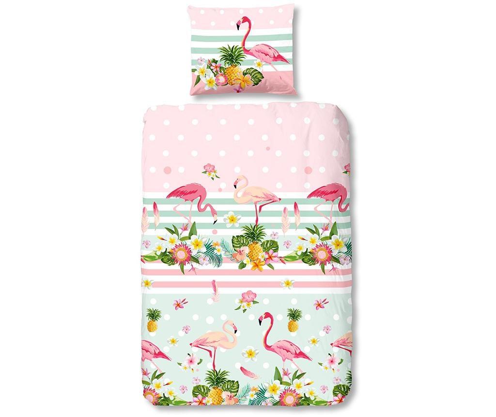 Set de pat Single Ranforce Flamingo