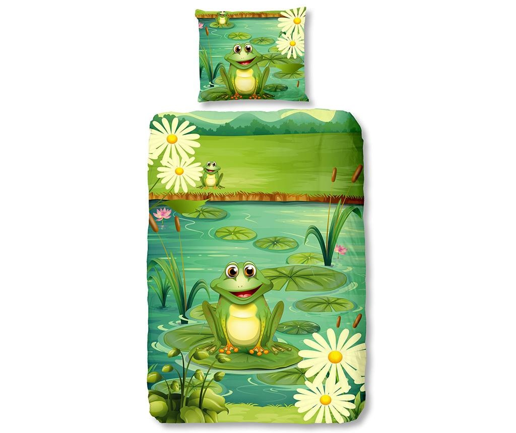 Posteljnina Single Ranforce Frogs