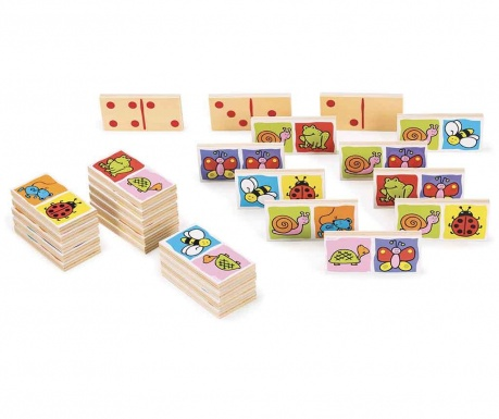 Joc domino 28 piese Animals and Numbers