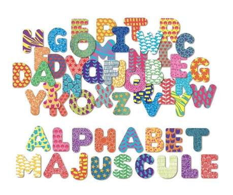 Sada 56 magnetických písmen Alphabet