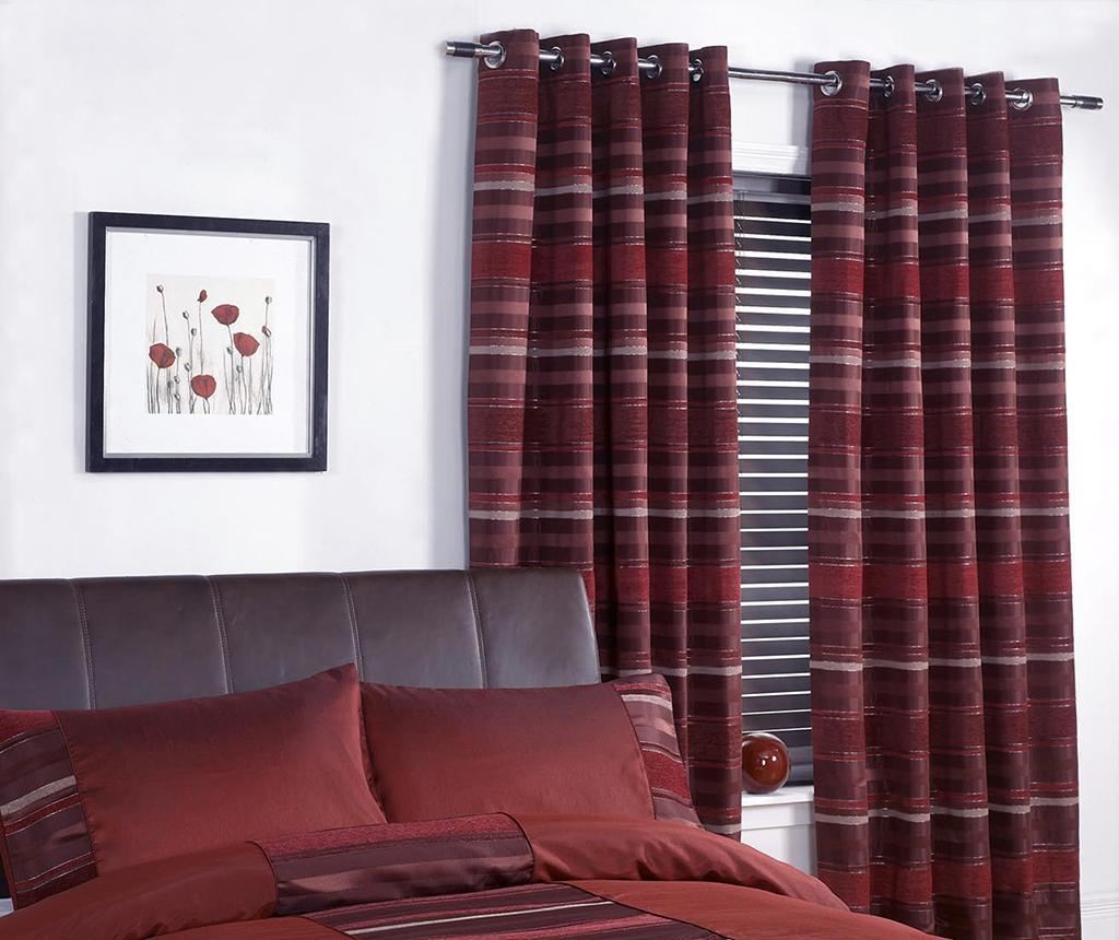 Set 2 draperii New York Red 168x229 cm - Metropolitan, Rosu