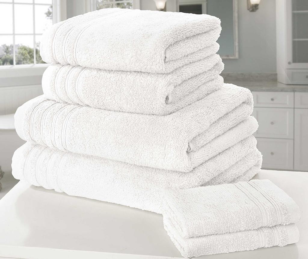 Set 6 prosoape de baie So Soft White - So Soft, Alb