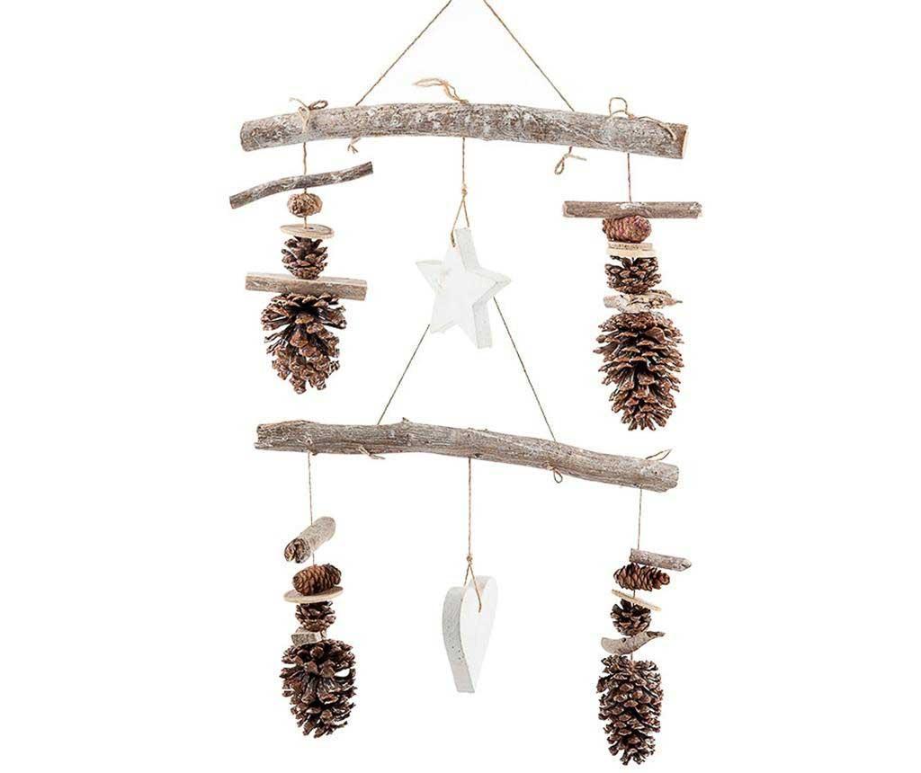 Set 2 decoratiuni suspendabile Pines Star and Heart - Luigi Dal Pozzo