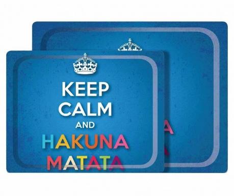 Sada 2 servírovacích podnosů Hakuna Matata
