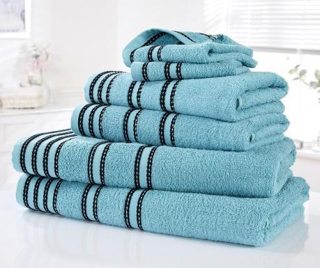 Sada 6 ručníků Sirocco Turquoise