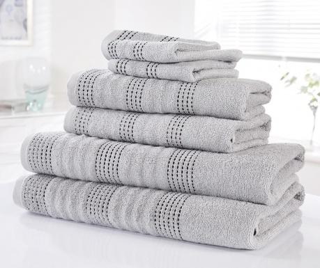 Sada 6 uterákov Spa Silver